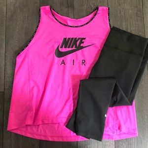 Women's Nike plus size tank/crop leggings set 1x
